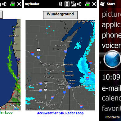 Location-Aware myRadar for AT&T Tilt 2