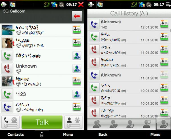 how to delete phone call history on android