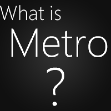 Understanding the philosophy behind Metro UI
