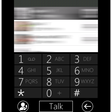 Windows Phone 7 Metro Dialer Skin