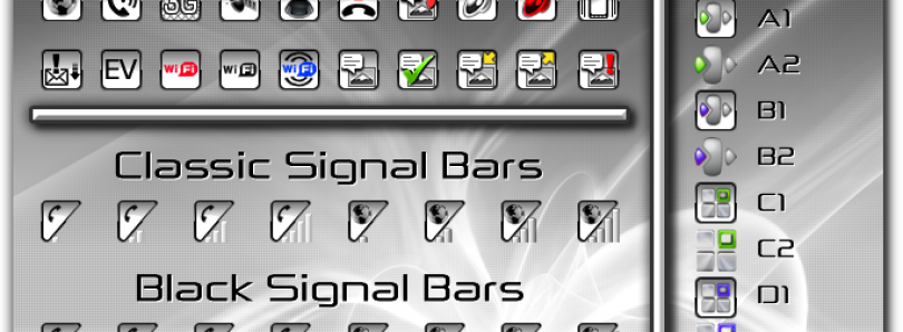 NGTV White Taskbar Iconset