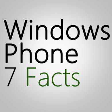 Windows Phone 7 Facts: Maybe Much Better and Rich Apps!