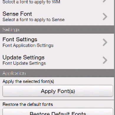 KD-Font, Change Fonts in WM/Sense