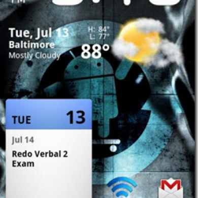 Nexus One Theme With A Touch Of Pure Blackbar