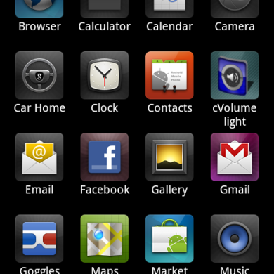 Samsung Galaxy S Program Launcher for HTC Desire
