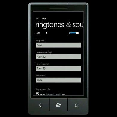 Alarms and Ringtones of WP7