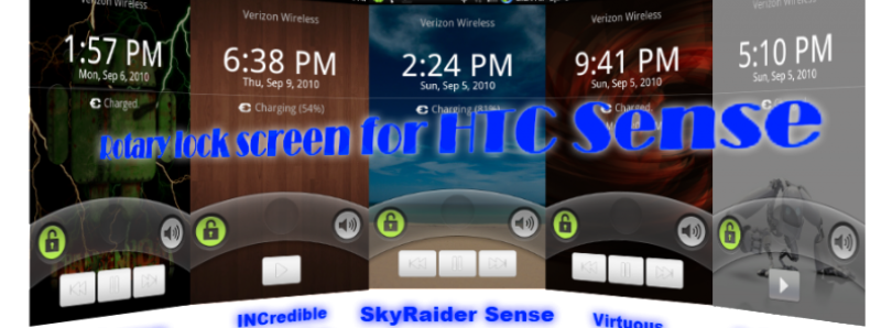 Rotary Lock Screen with Music Controls for Sense Droid Incredible