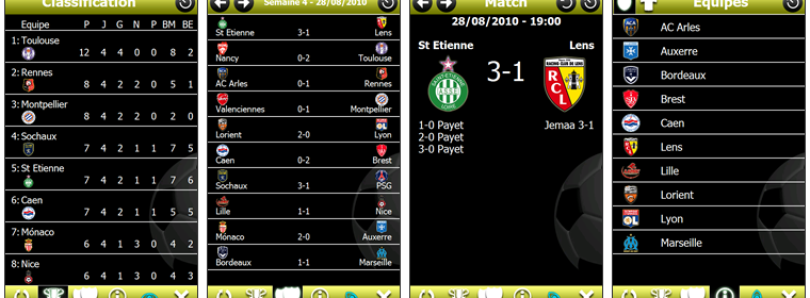 Follow the French League with Ligue 1 Pocket 2010