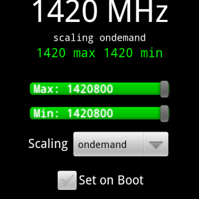 HTC Vision (G2) Successfully Overclocked to 1.42 GHz!