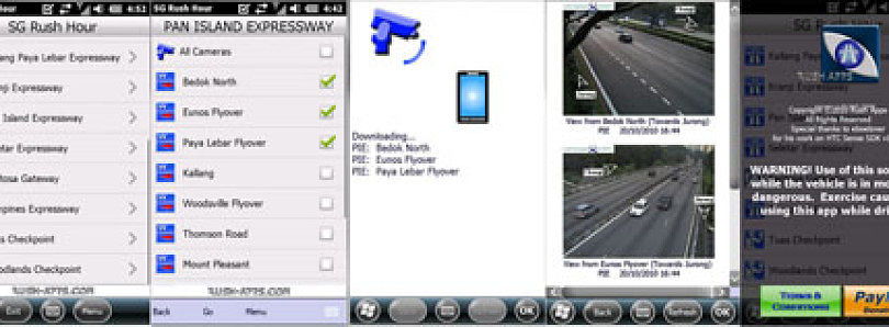 View Singapore Traffic Cameras from your Win Mo Phone