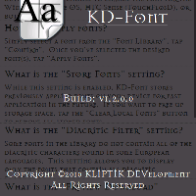 KD-Font for Windows Mobile Updated