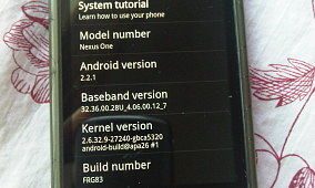 Android 2.2.1 Update Appears for Nexus One