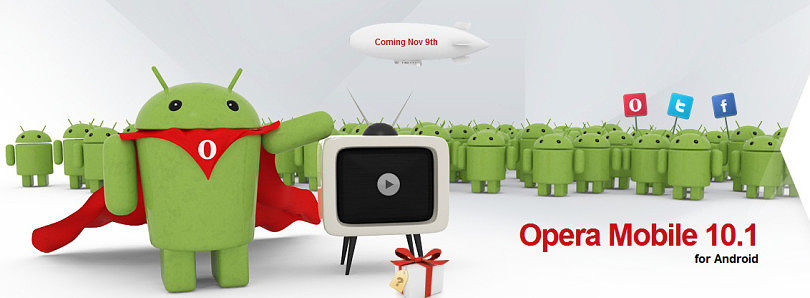 Opera Mobile for Android Ready on November 9th
