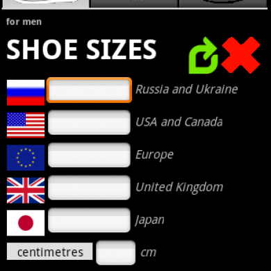 """Convert Clothing Sizes on the go With """"Sizes"""""""