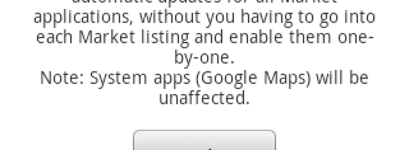 Toggle Auto Update for Android Market