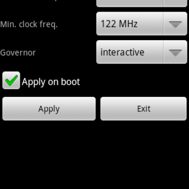 """Control Your Android Processor Frequencies With """"No Frills"""""""
