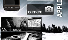 Black & White Graphic Icons Set for Android