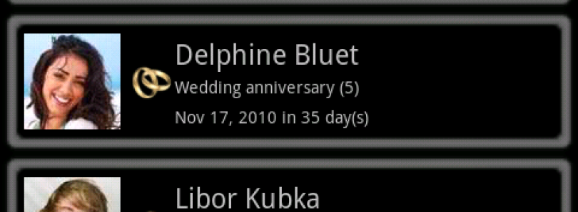 Never Forget With Birthday Reminder GLite