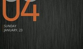 Cowon D3 Style Clock Widget For Android