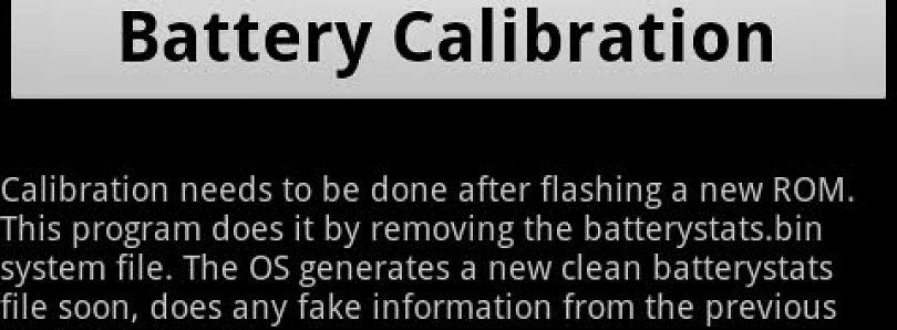 "Calibrate Your Battery The Easy Way With ""Battery Calibration"" for Android"