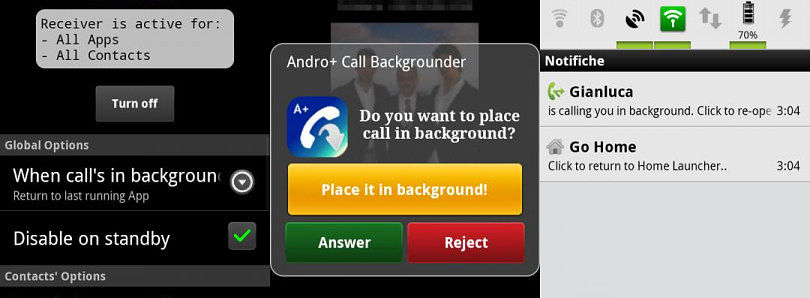 Andro+ Call Backgrounder for Android Gives You Back Control of Your Incoming Calls