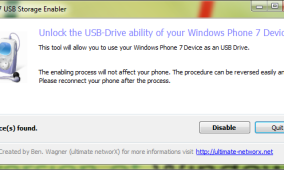Use Your Windows Phone 7 As A USB Stick