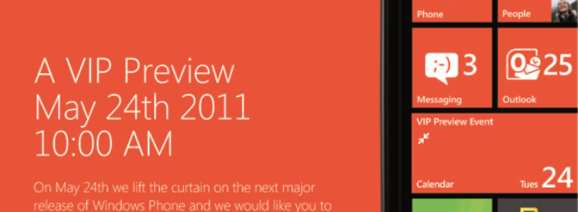 Mango or Windows Phone 7.5 Unveiling on May 24th