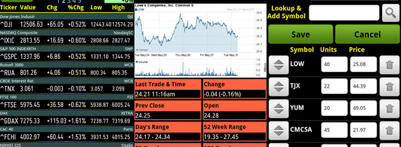 Watch List Mania for Android Keeps You in Control of Your Fincial Investments