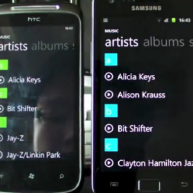WP7 Music Player Clone for Android