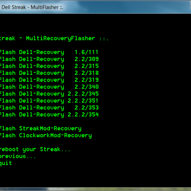 MultiBasebanFlasher And MultiRecoveryFlasher Available For Dell Streak