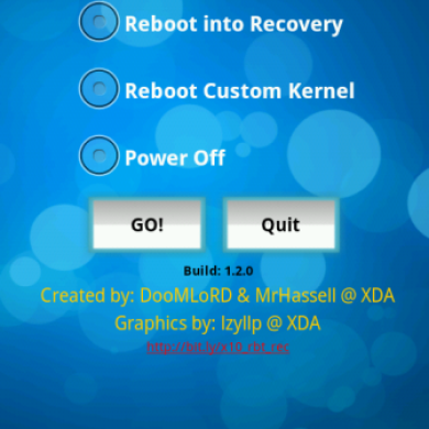 Reboot Options App For Xperia Variants