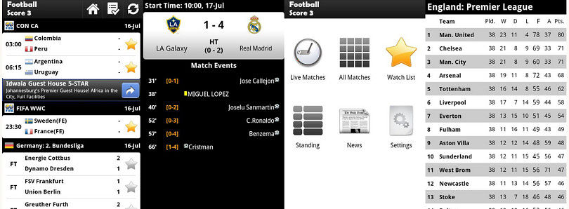 Get Your Soccer Score Fix with Football Score 3 for Android