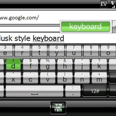 Modify the Look of Your Windows Mobile Keyboard with Dusk Keyboard Skins