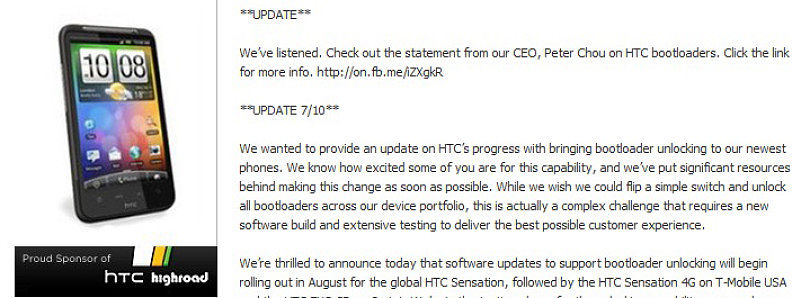 HTC Will Roll Out Unlocked Bootloaders for Sensation and EVO 3D