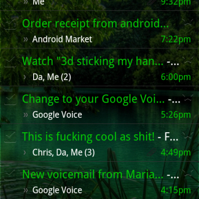 Transparent Gmail, Google Voice, Market and More Apps