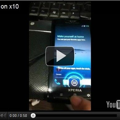 Sony Gets Some ICS (SDK) Love As Well On The X10