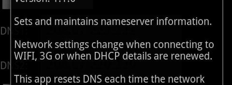Set DNS – Speed Up Android Market Using WiFi