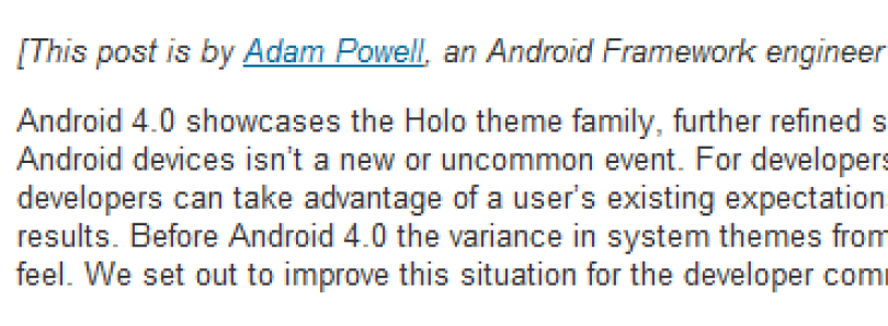 Holo Theme Compatibility Standard on Android ICS Explained