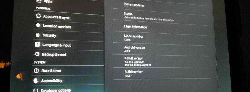 Xoom Receives Official IML77 Ice Cream Sandwich Update