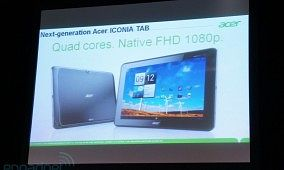 Acer's Next-Gen Tablet to Pack Full 1080p Resolution, Quad-Core