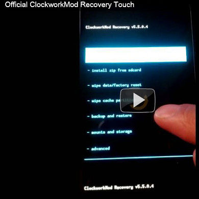 ClockworkMod Touch Recovery For Galaxy Nexus & Nexus S