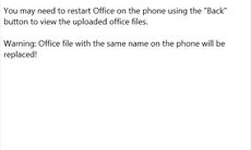 Easily Transfer Office Files From PC To Windows Phone With Office File Uploader