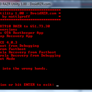 Another All-In-One Rooting & Hacking Utility, This Time For Motorola Droid RAZR Users