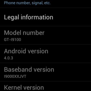 Original Galaxy S I9000 Receives ICS Pre-Alpha Bliss