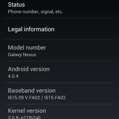Galaxy Nexus Gets ICS 4.0.4 Update
