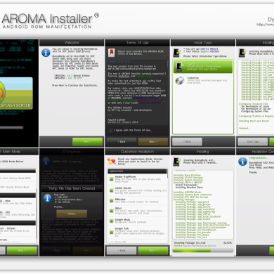 Touch And Customizable ROM Installer AROMA