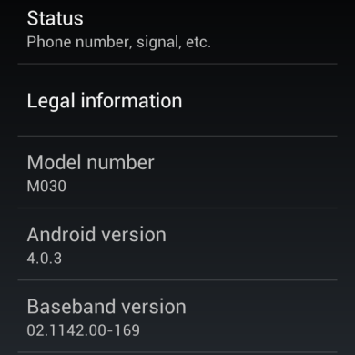 Stock Android 4.0 Beta (V1037) for the Meizu MX and M9