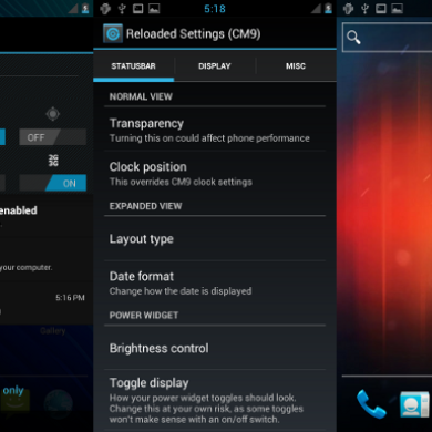 Give Your CM9 Status Bar Some Steriods