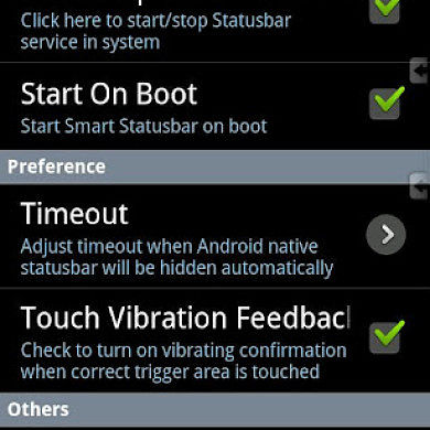 Smart Statusbar – Gives You Easy Statusbar Access In Full Screen Apps