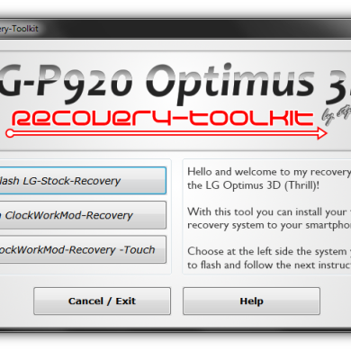 Tool for the Optimus 3D Installs Your Favorite Recovery